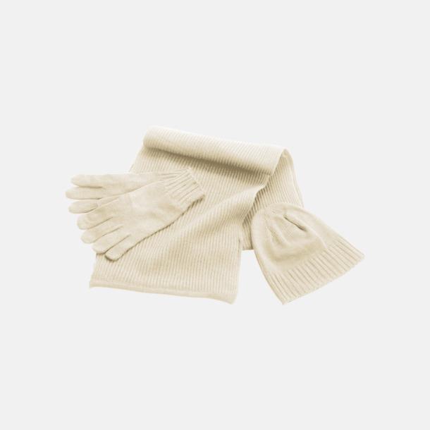 Natur Set med mössa, vantar och halsduk med reklambrodyr