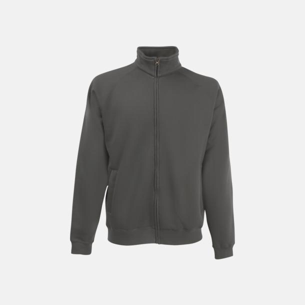 Light Graphite (solid) Tjockare tröja med dragkedja. Använd som jacka!