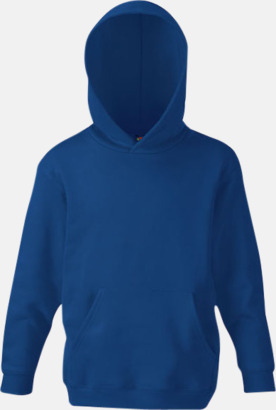 Marinblå Huvtröjor för barn i många färger med reklamtryck