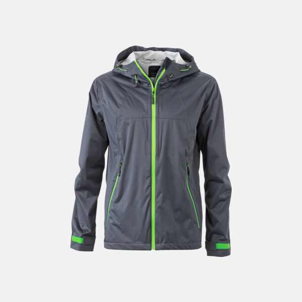 Iron Grey/Grön (herr) Trekkingjackor i herr- & dammodell med reklamtryck
