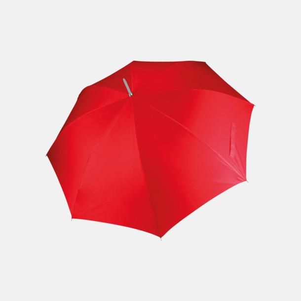 Röd Tvåfärgade golfparaplyer med reklamtryck