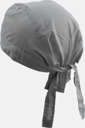 Mörkgrå (hatt) Bandanas i två varianter med reklambrodyr