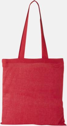 Röd Klassiska tygkassar med reklamtryck