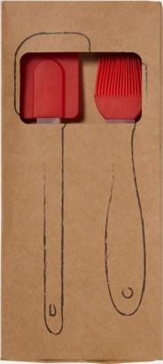 Slickepott och pensel med reklamtryck