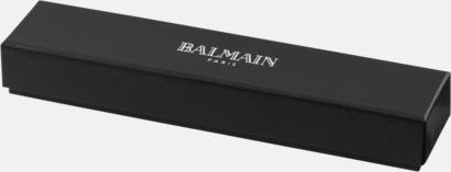 Presentförpackning Balmain stylus- & kulspetspenna eller rollerballpenna med reklamlogo
