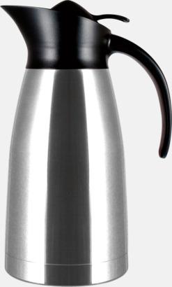 Blankpolerad (silver) Buffés termoskanna i klassisk design med reklamtryck