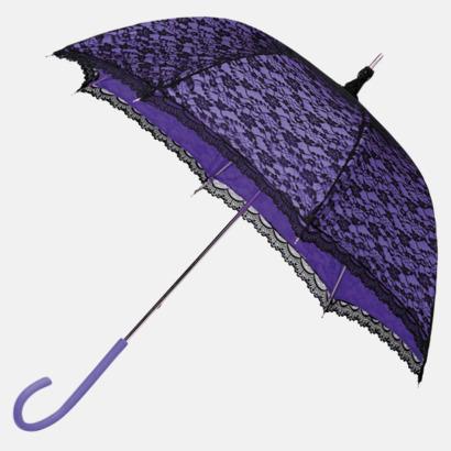 Lila Unika paraplyer med eget tryck