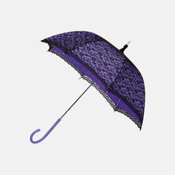 Lila (PMS 814C) Unika spets paraplyer med eget reklamtryck