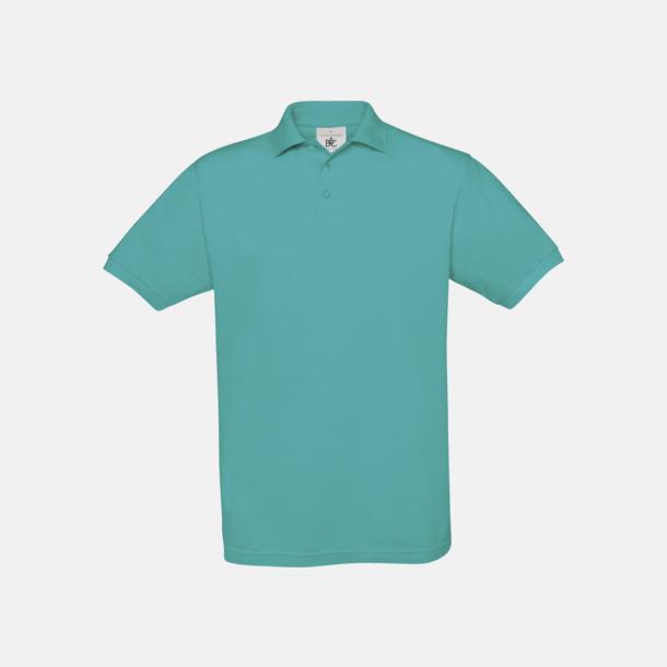 Real Turquoise Kortärmade pikétröjor med egen brodyr