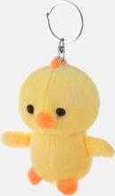 Påskiga kyckling nyckelringar med reklamtryck
