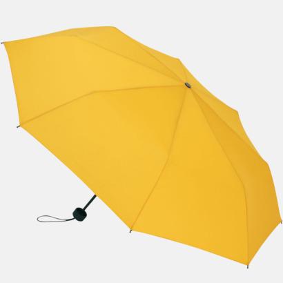 Gul Kompakta paraplyer med eget tryck