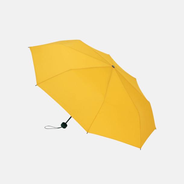Gul Kompakta paraplyer med eget reklamtryck