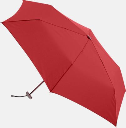 Röd Super slim kompaktparaplyer med tryck