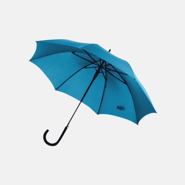 Ljusblå Stormsäkra, automatiska paraplyer med tryck