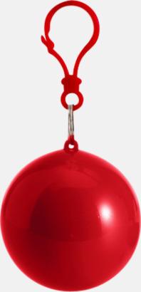 Röd Regnponcho i boll med tryck