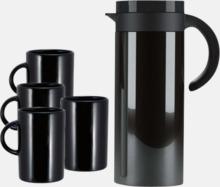 Buffés termoskaffekanna med 4 matchande muggar - med reklamtryck