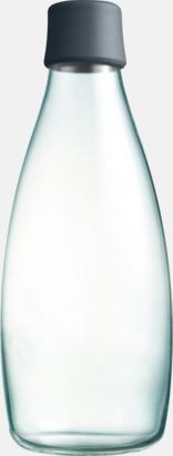 Grå Större glasflaskor med reklamtryck