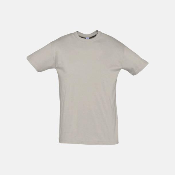 Ljusgrå (solid) Billiga unisex t-shirts i många färger med reklamtryck