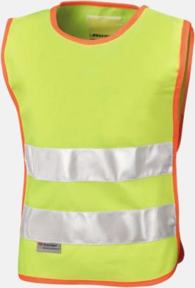 Floucerande gul Reflextabert för barn - med tryck