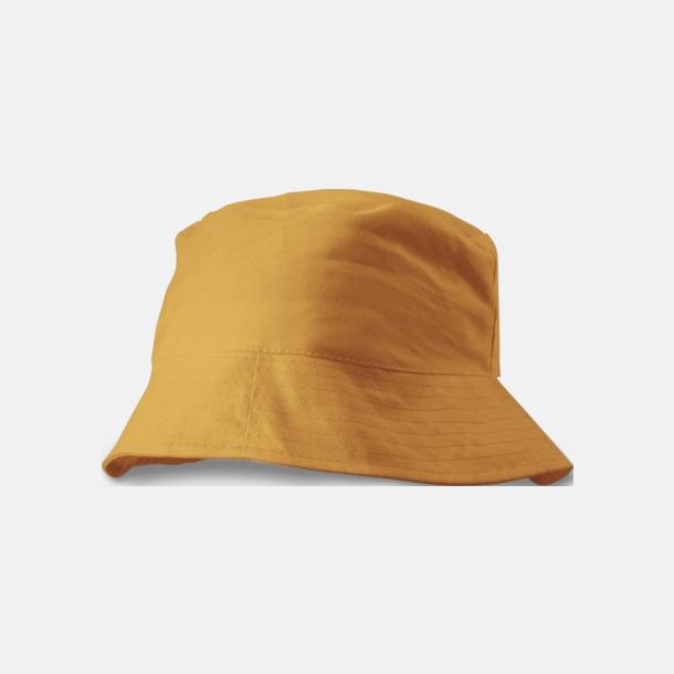 Orange Solhattar i många färger med reklamtryck