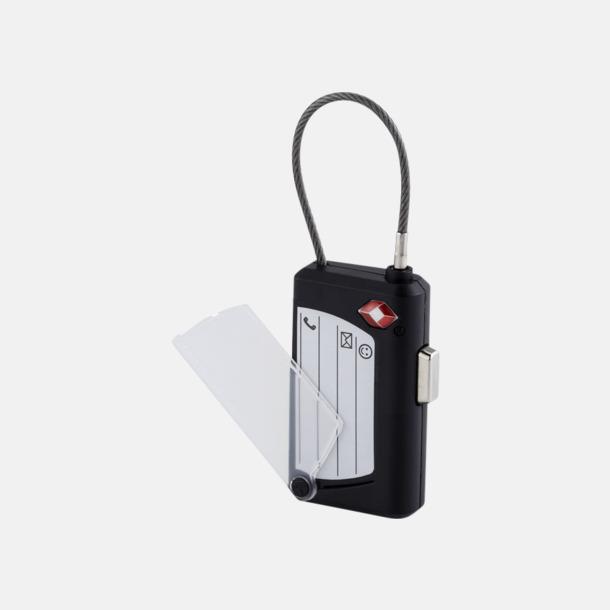 Väsklås och bagagebricka med reklamtryck