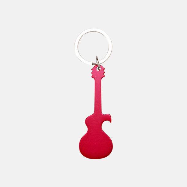 Röd (gitarr) Figurformade öppnare och nyckelringar med lasergravyr