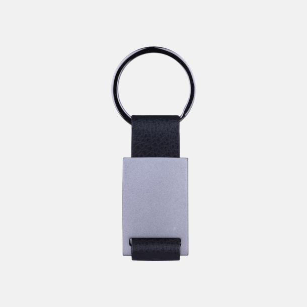 Silver / Svart Nyckelring med svart bälte i exklusiv design