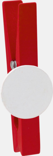 Röd Klädnypor med reklamtryck