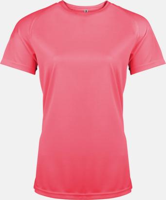 Floucerande Rosa Sport t-shirts i många färger för damer - med reklamtryck