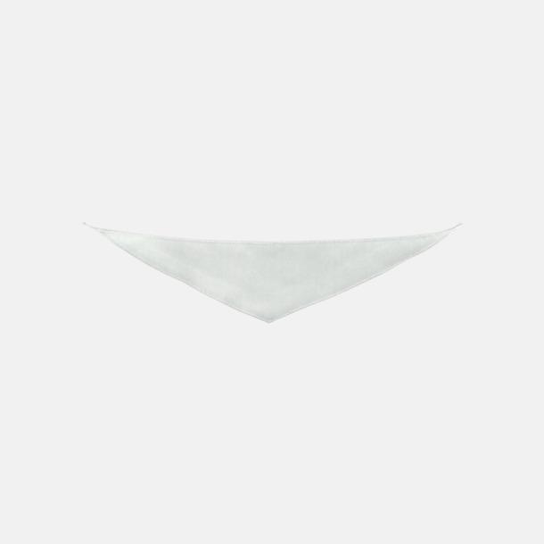 Vit Små bandana-sjalar för mjukisdjur - med reklamtryck
