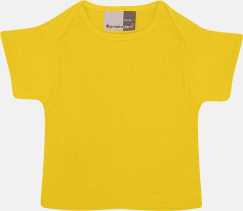 Gold T-shirts för de minsta barnen - med tryck