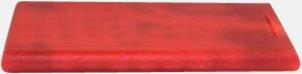 Röd (transparent) Askkort med sockerfritt mintgodis - med reklamtryck