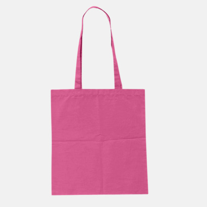 Pink (pms 219U) Billiga tygkassar med tryck