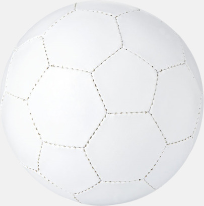 Vit Klassiska fotbollar i många färger med reklamtryck
