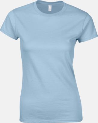 Ljusblå Billiga t-shirts med tryck