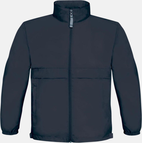 Marinblå (barn) Vind- och vattentäta jackor för dam, herr och barn - med tryck