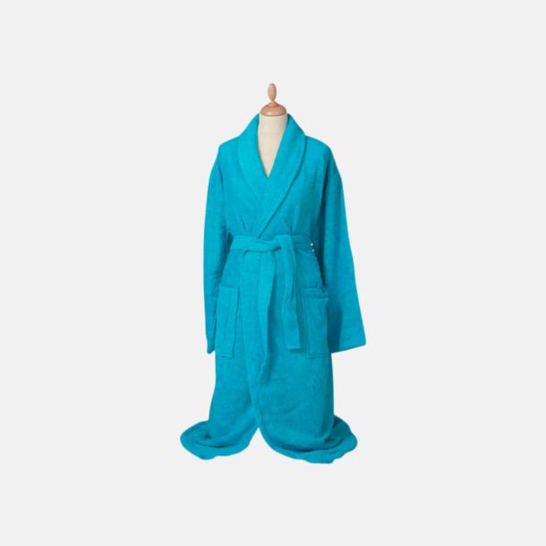 Aqua Blue (medel) Färgglada badrockar med reklambrodyr