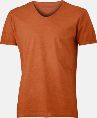 Terra (herr) Trendiga v-neck t-shirts i herr- och dammodell med reklamtryck