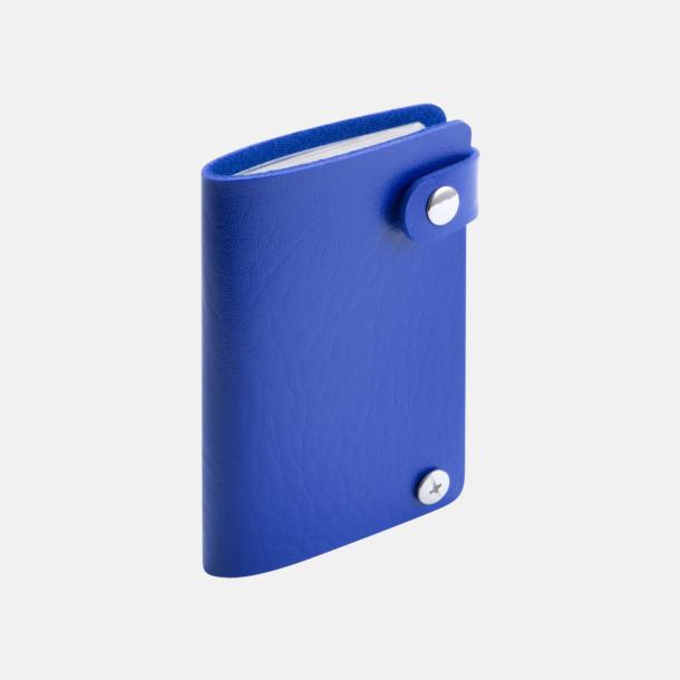 Blå Visitkortsmappar med reklamtryck