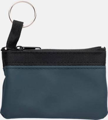 Blå Små plånböcker med nyckelringar i mörka färger