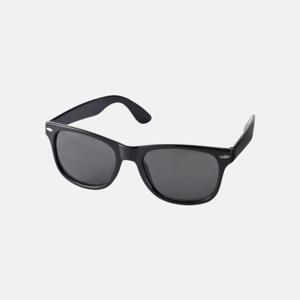 Svart Trendiga solglasögon med tryck
