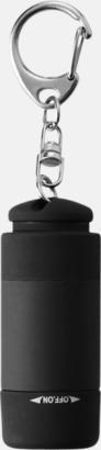 Svart Laddningsbara ficklampor med USB-nyckel
