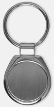 Rundad nyckelring i metall