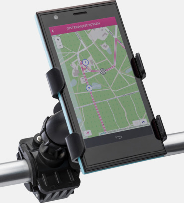 Justerbar smartphonehållare för cykeln - med reklamtryck