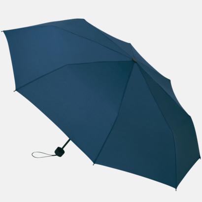 Marinblå Kompakta paraplyer med eget tryck