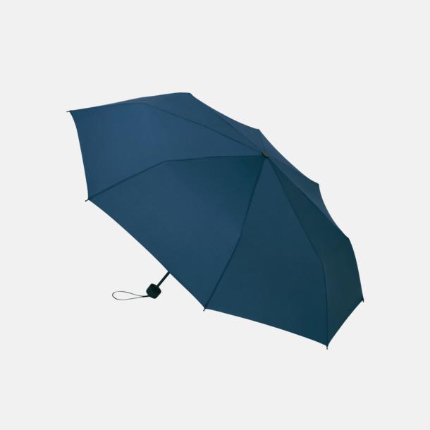 Marinblå Kompakta paraplyer med eget reklamtryck