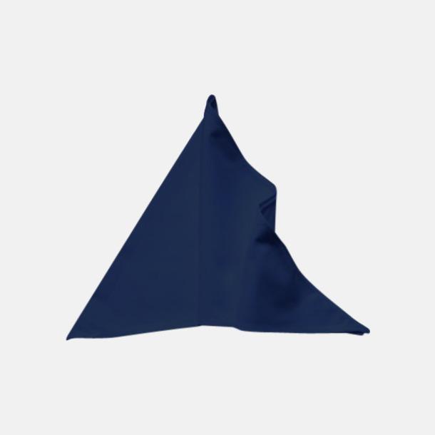 Marinblå Tåliga scarfs med reklamlogo