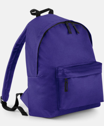 Lila Klassisk ryggsäck i 2 storlekar med eget tryck