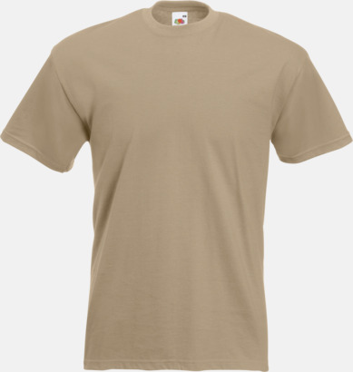 Kahki Kraftig t-shirt med reklamtryck