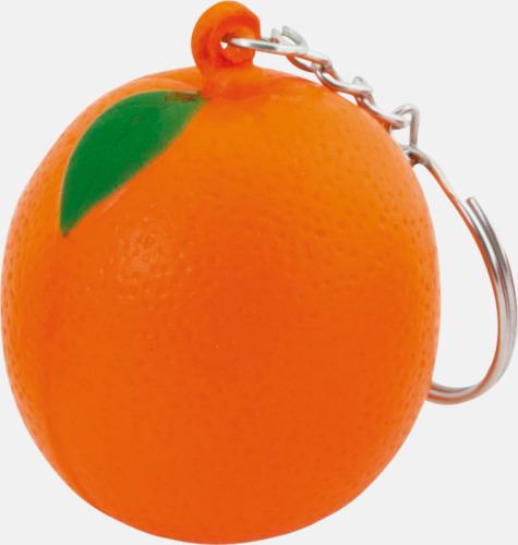 Apelsin Stressbollar i form av olika frukter - med reklamtryck